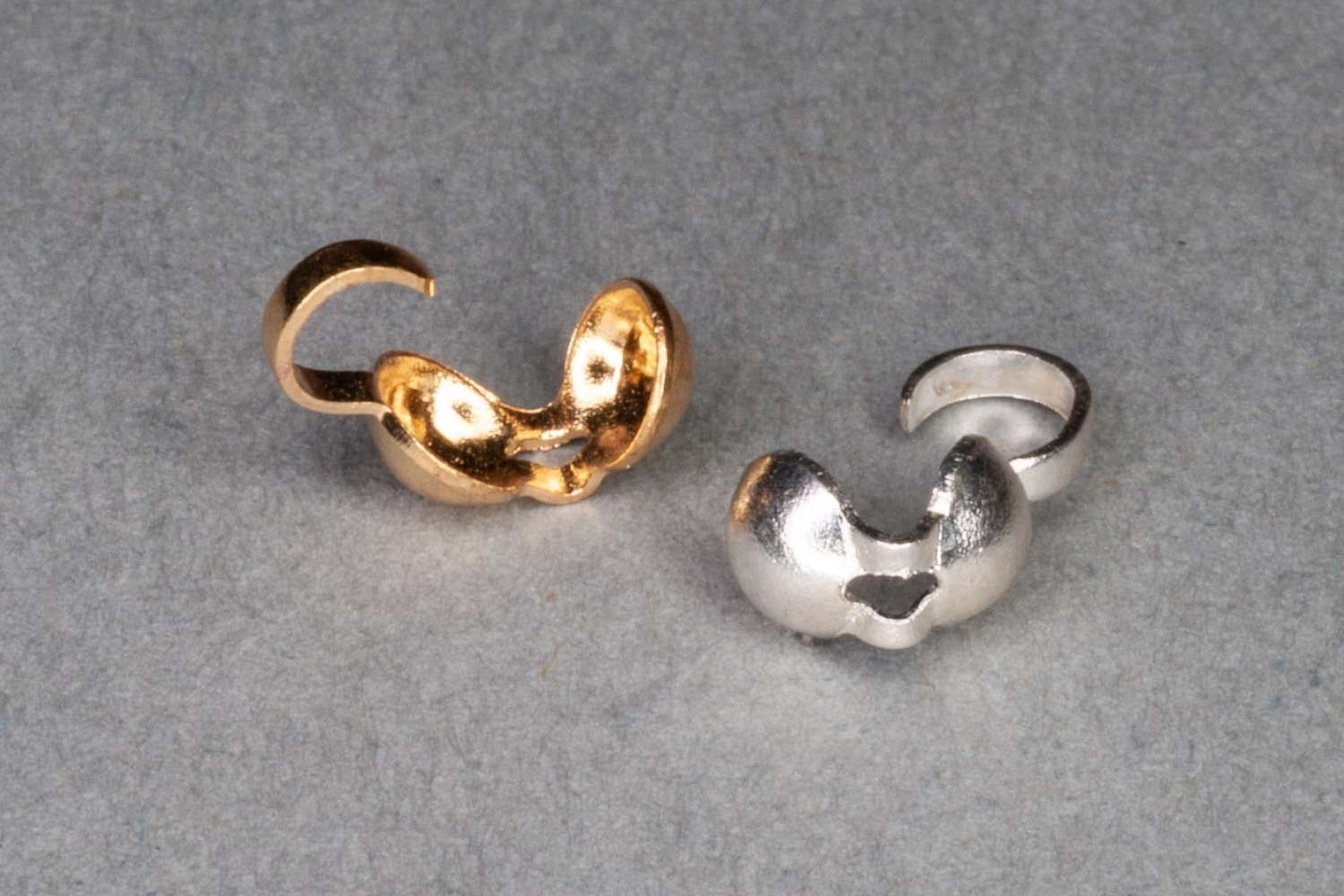 Plated Calotte, 8x4mm