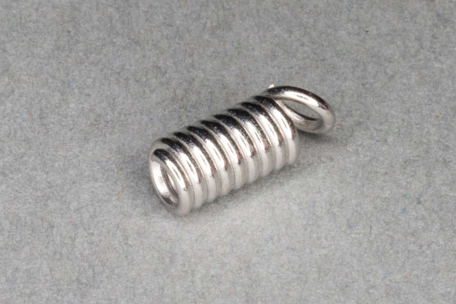 Silver Plated Spring End