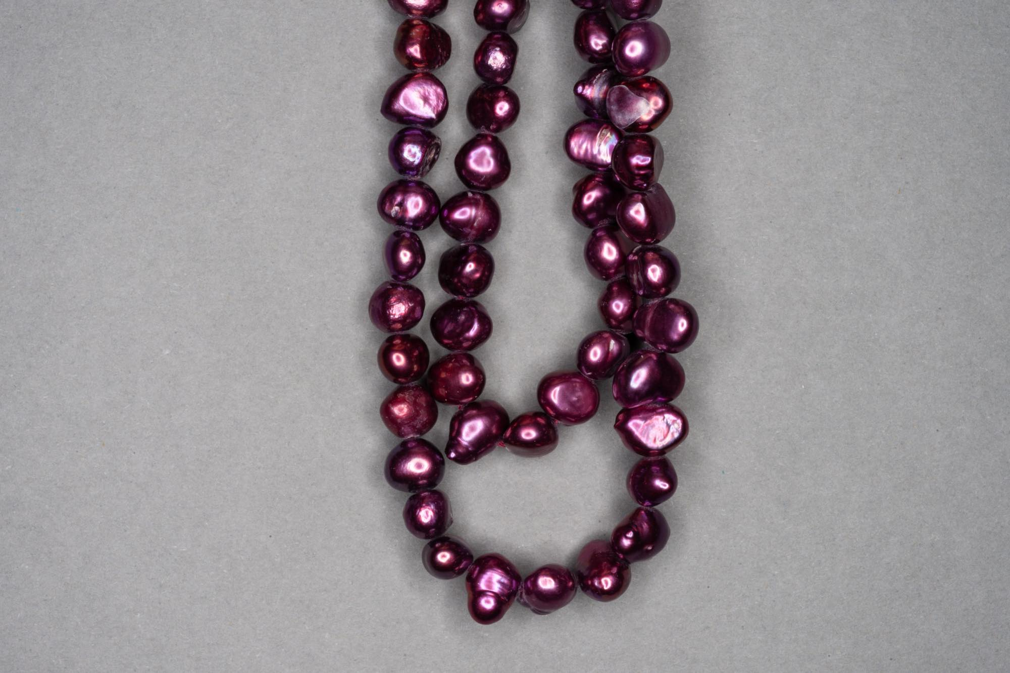 Aubergine Dyed Fresh Water Pearl 38cm Strand, approx 8x5mm