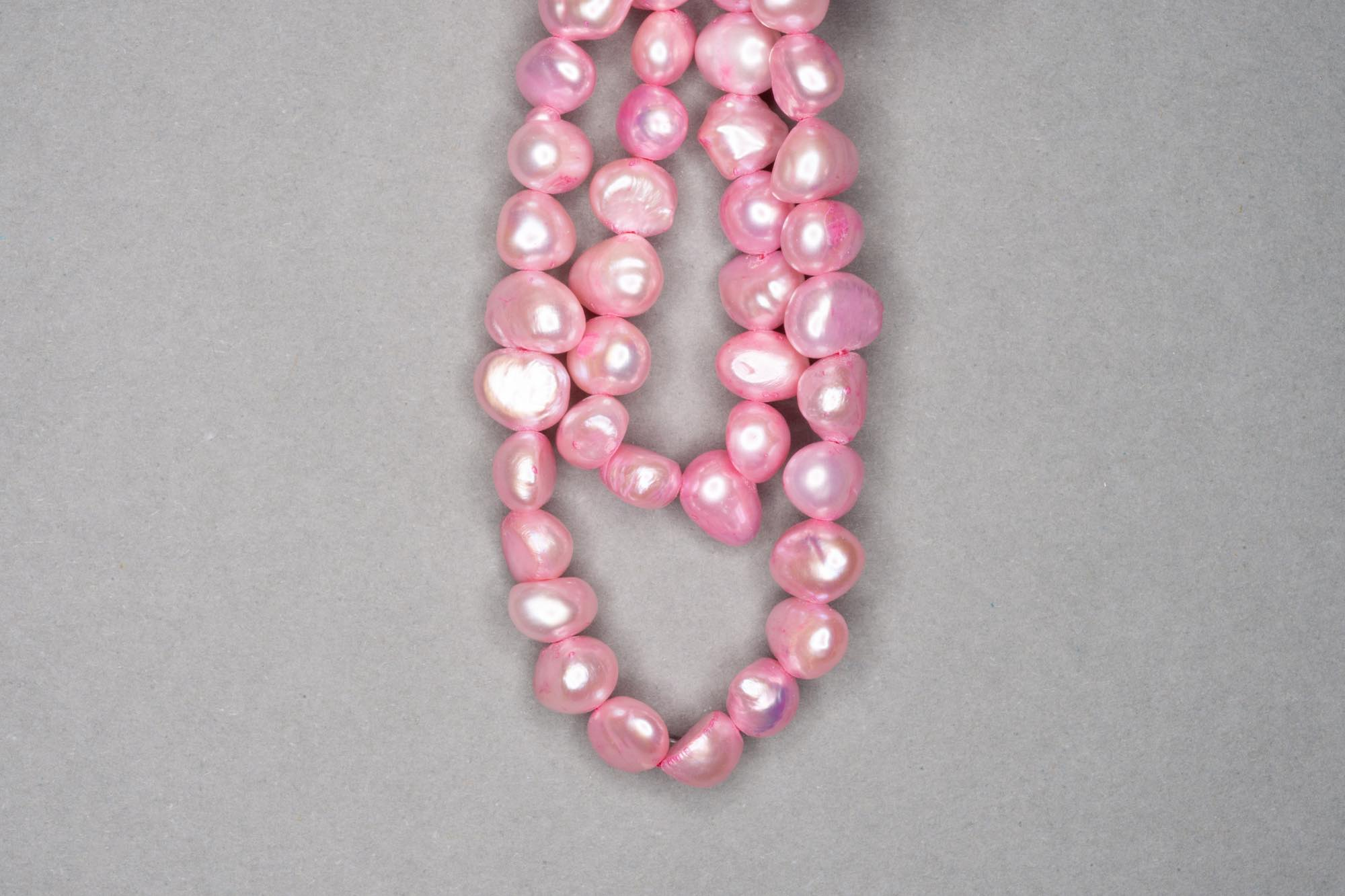 Baby Pink Dyed Fresh Water Pearl 38cm Strand, approx 6x7mm