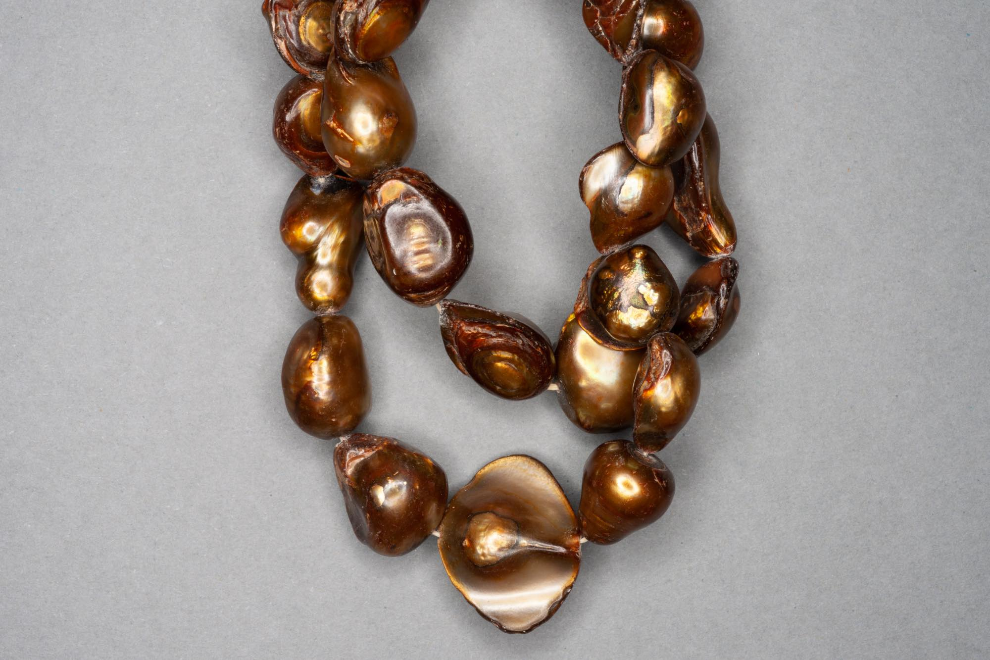 Brown Dyed Fresh Water Pearl 38cm Strand, approx 10×10-14x14mm