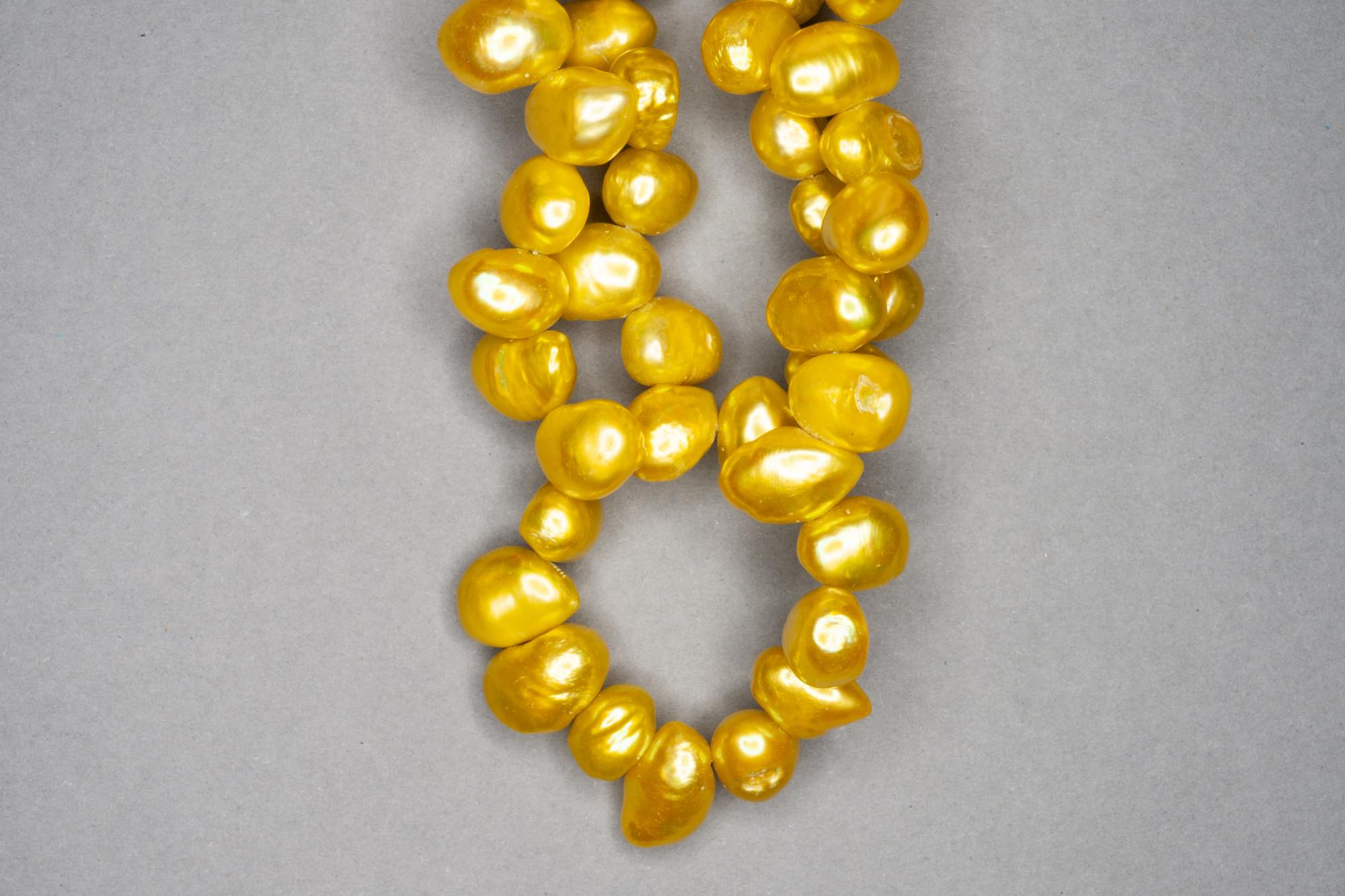 Yellow Lime Green Dyed Fresh Water Pearl 38cm Strand, approx 10x7mm