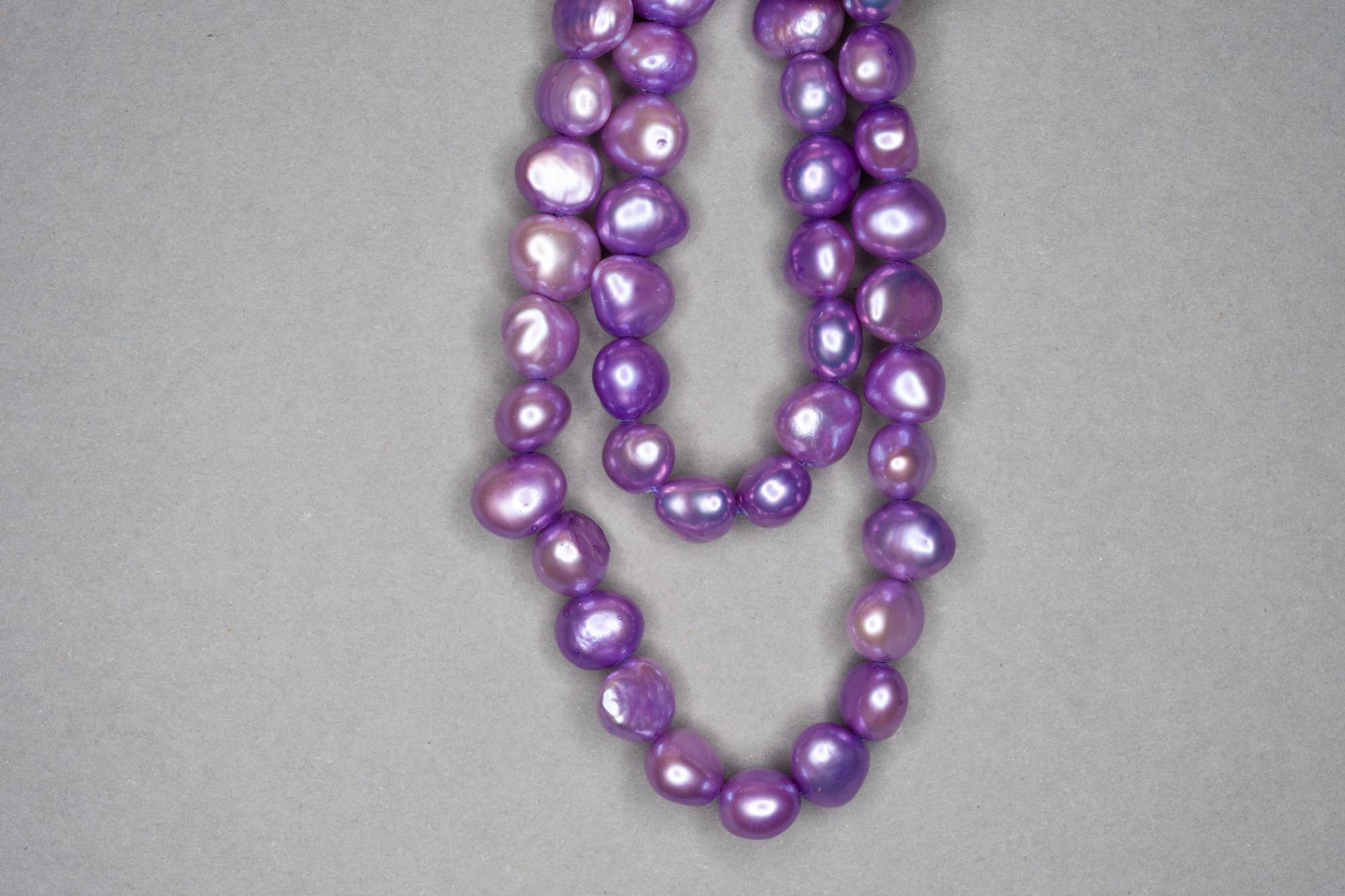 Mauve Dyed Fresh Water Pearl 38cm Strand, approx 8x7mm