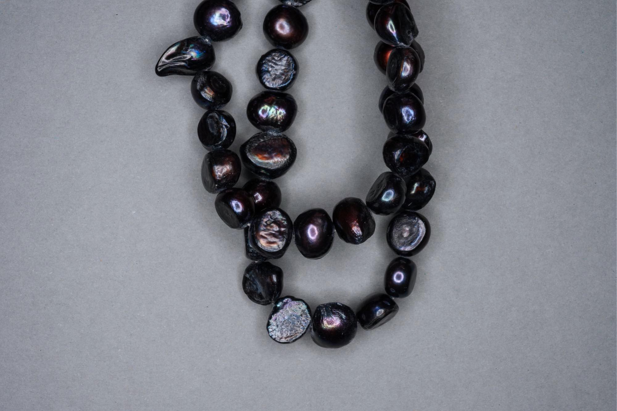 Purple Navy Dyed Fresh Water Pearl 38cm Strand, approx 11x8mm