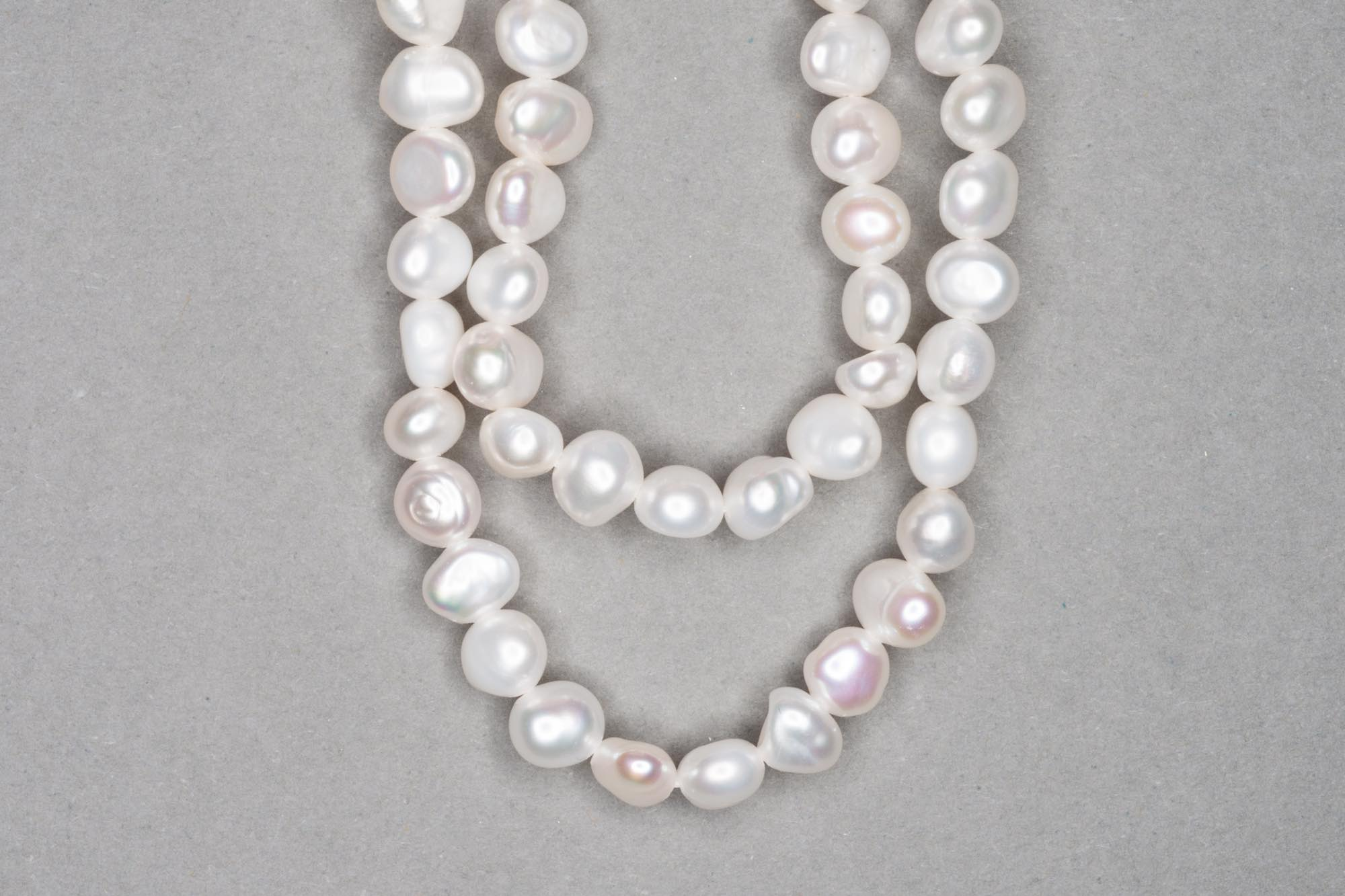 Natural White Fresh Water Pearl 38cm Strand, approx 5x6mm