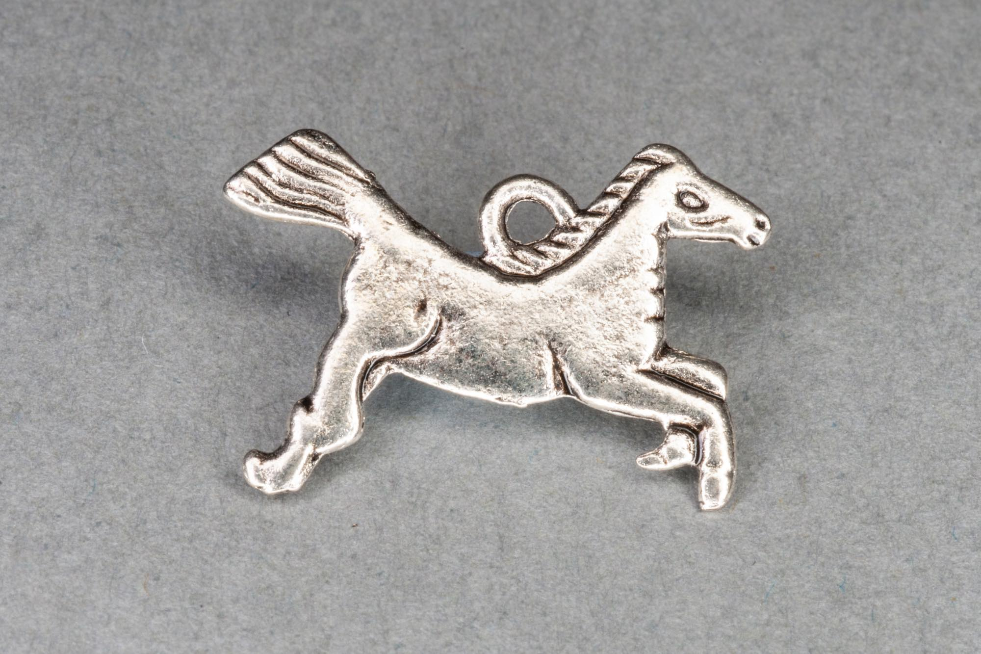 Antique Silver Horse Charm 14x20mm