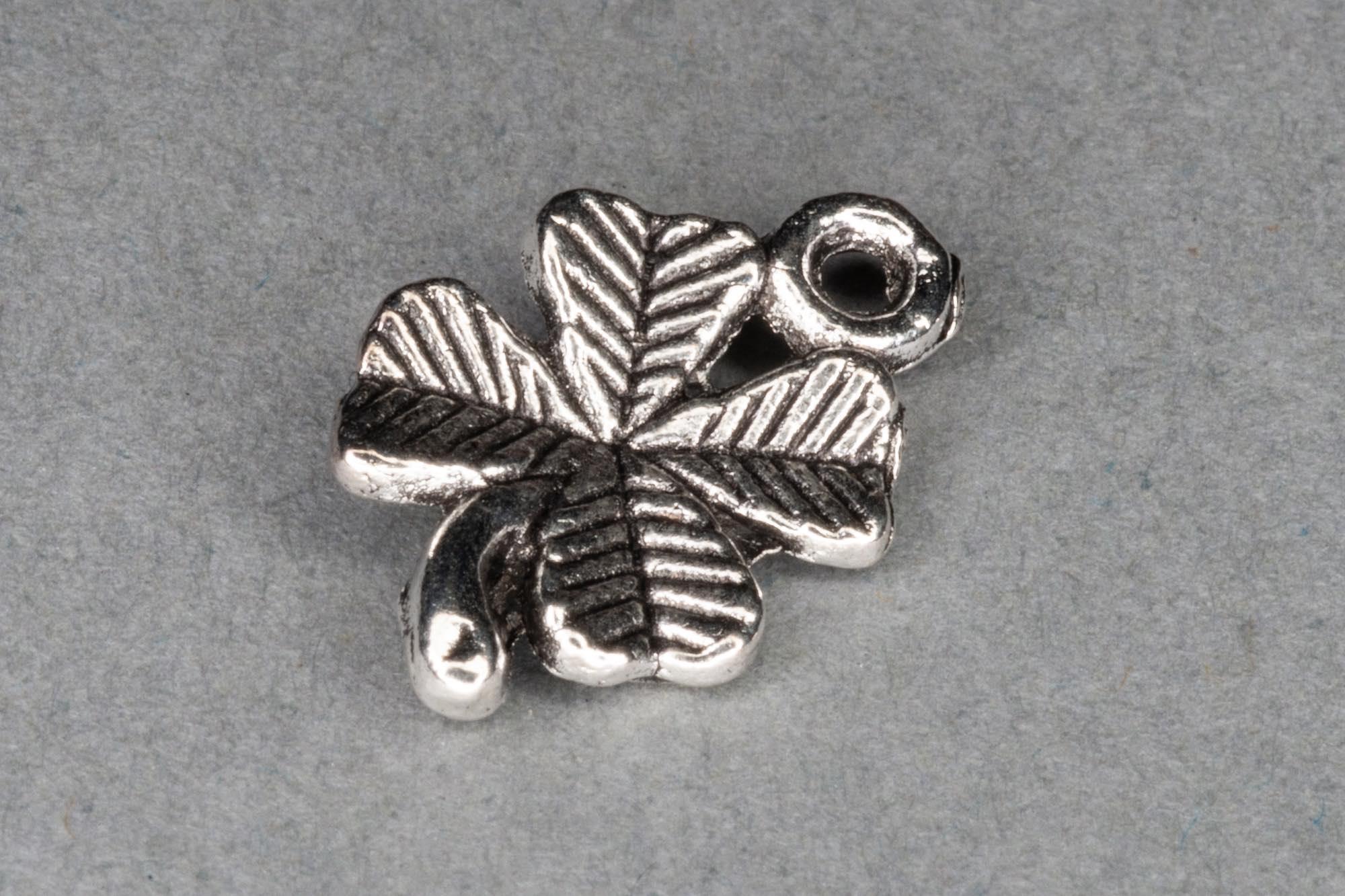 Antique Silver 4 Leaf Clover Charm 15x10mm