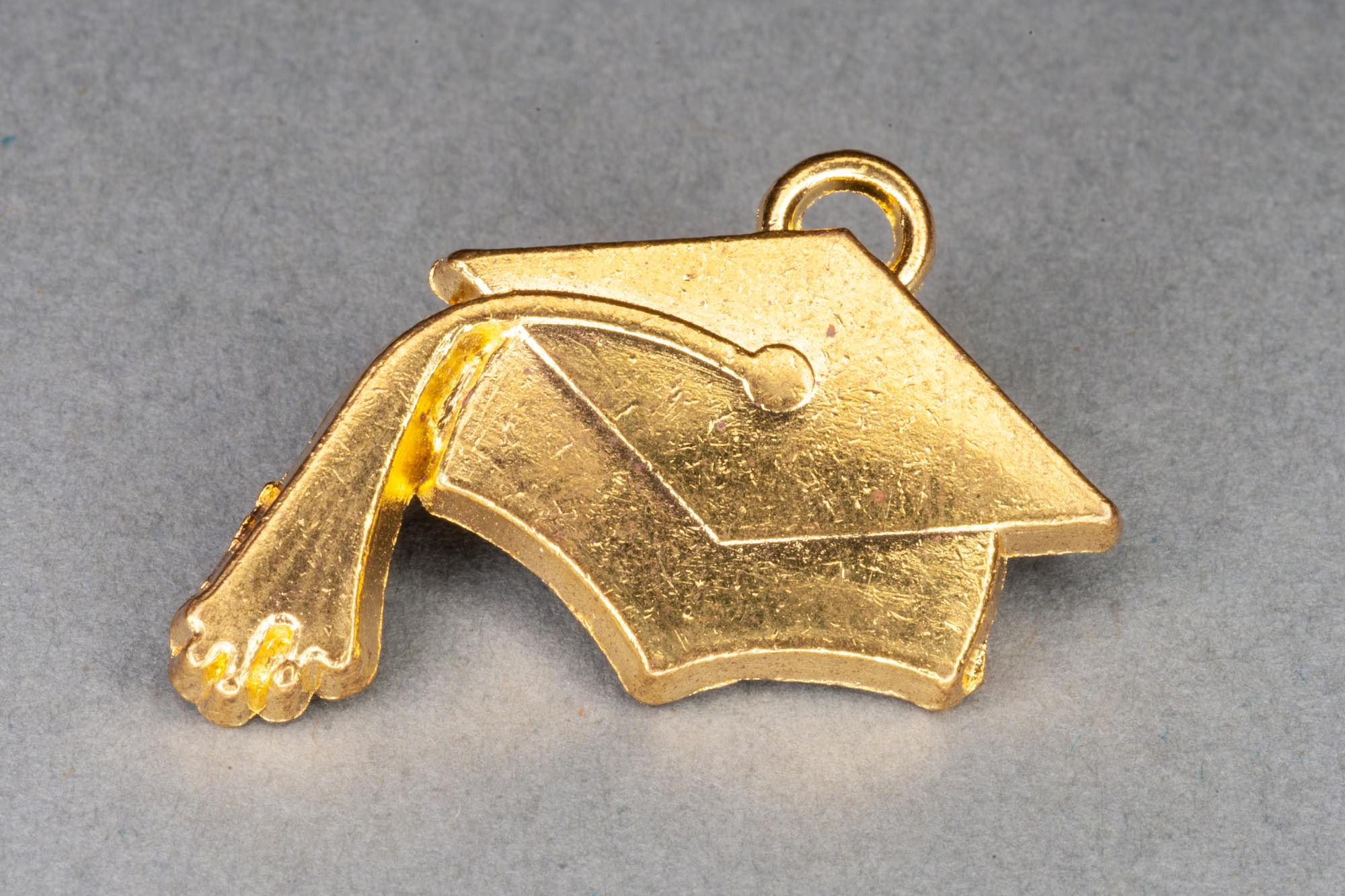 Gold Graduation Charm 22x22mm