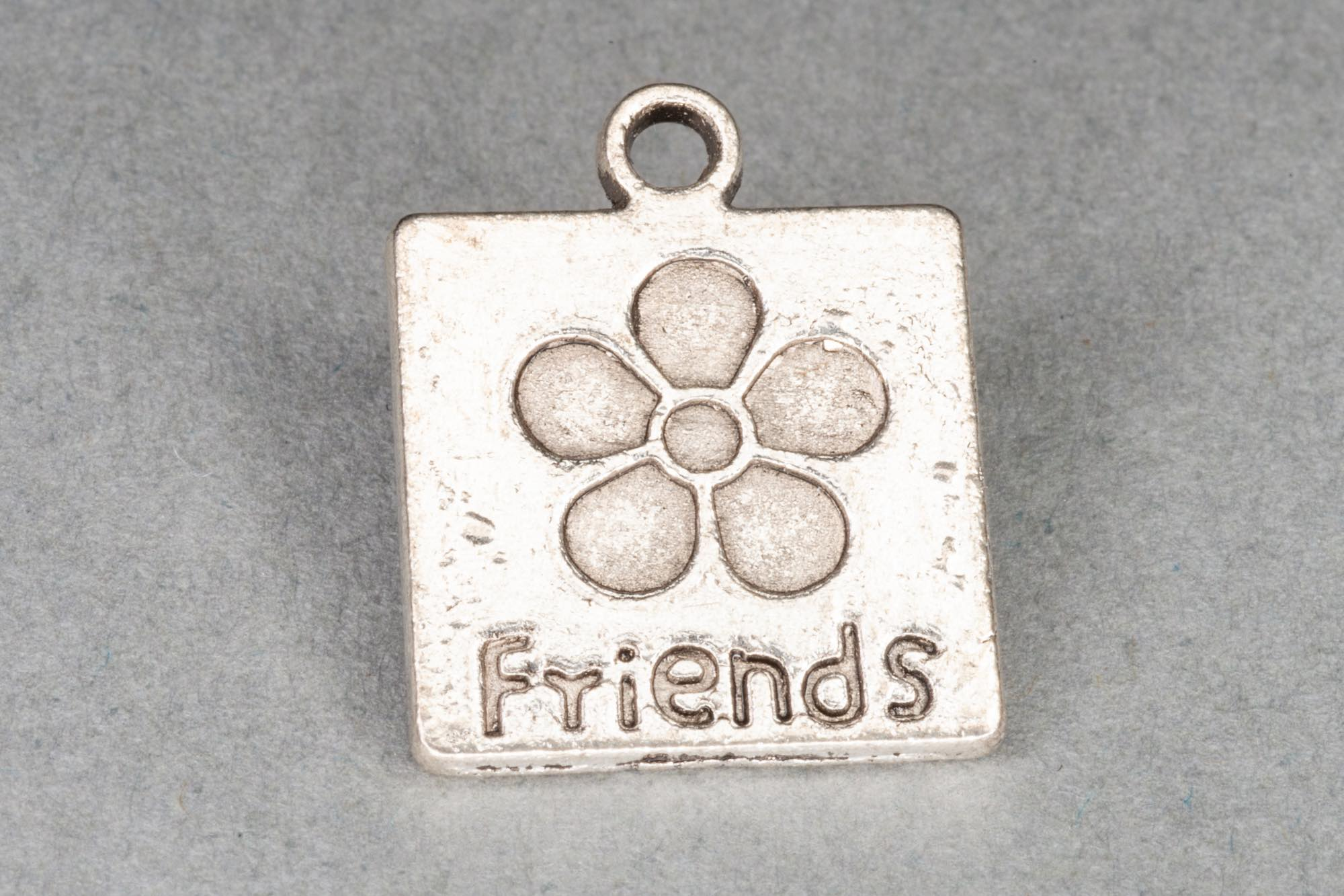 Silver 'Friends' Charm 17x14mm