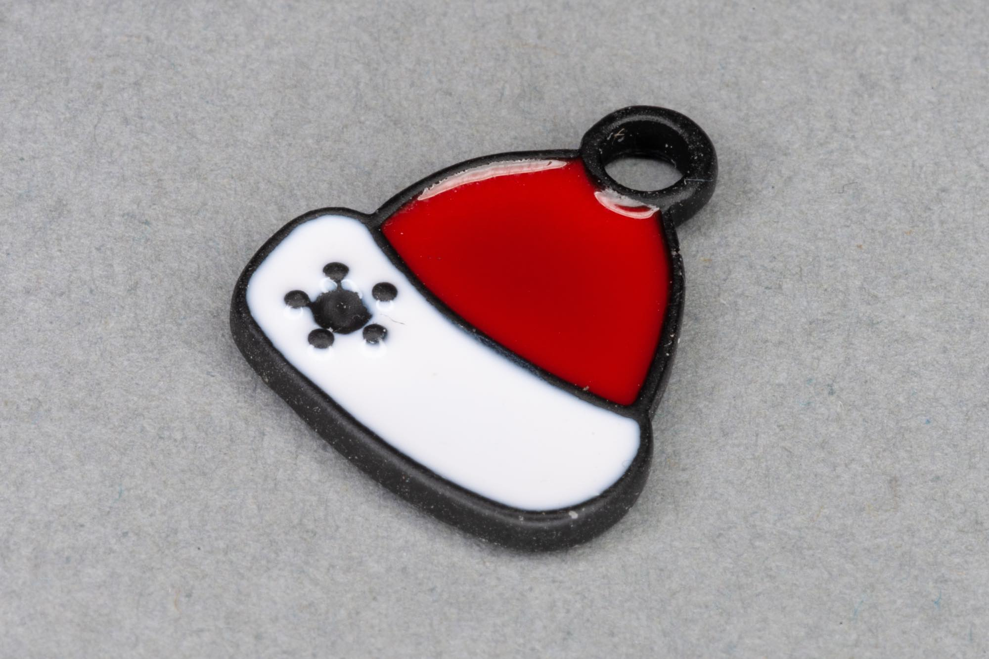 Enamel Christmas Hat Charm 17x15mm