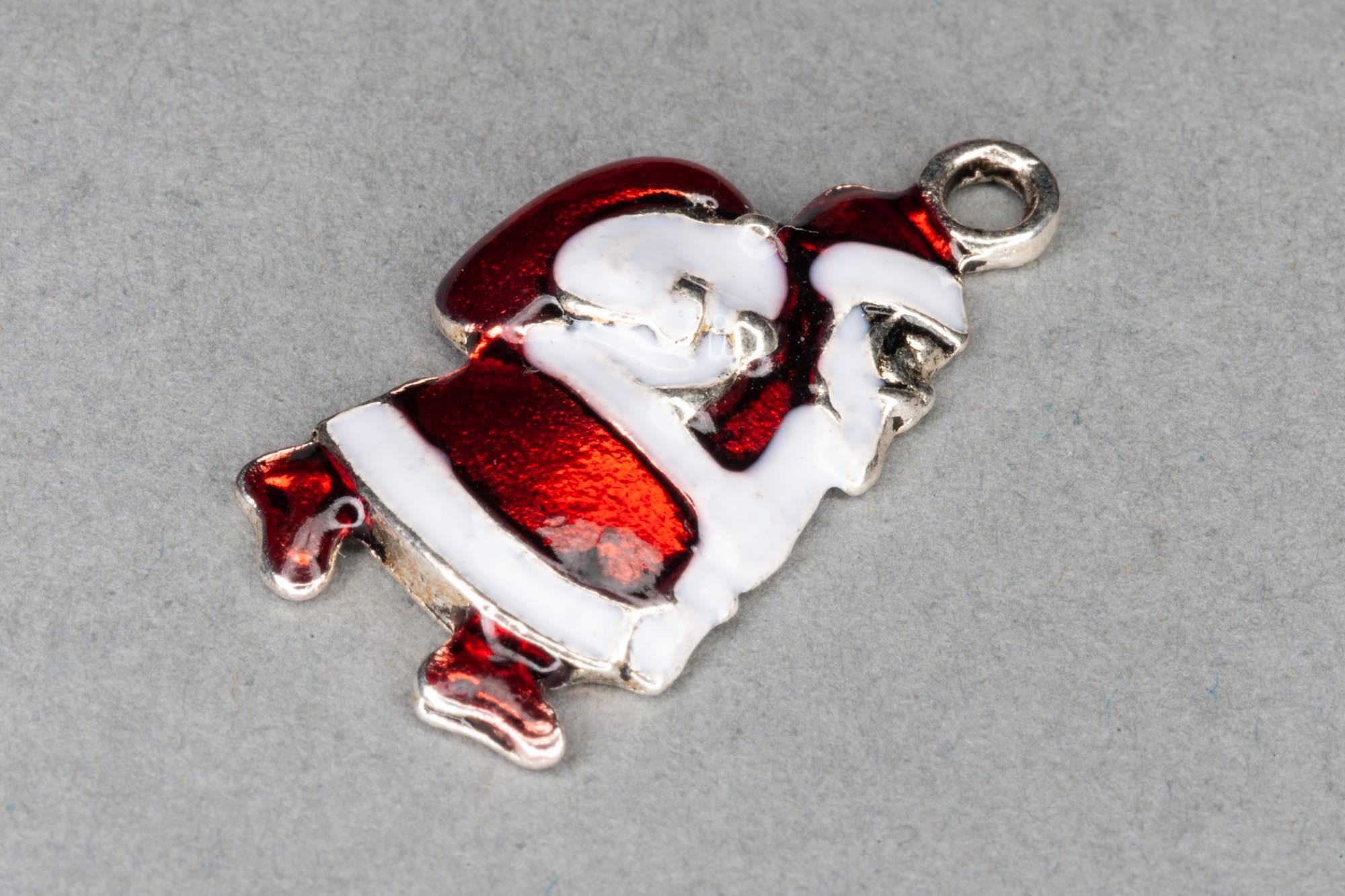 Enamel Santa Claus Charm 23x12mm