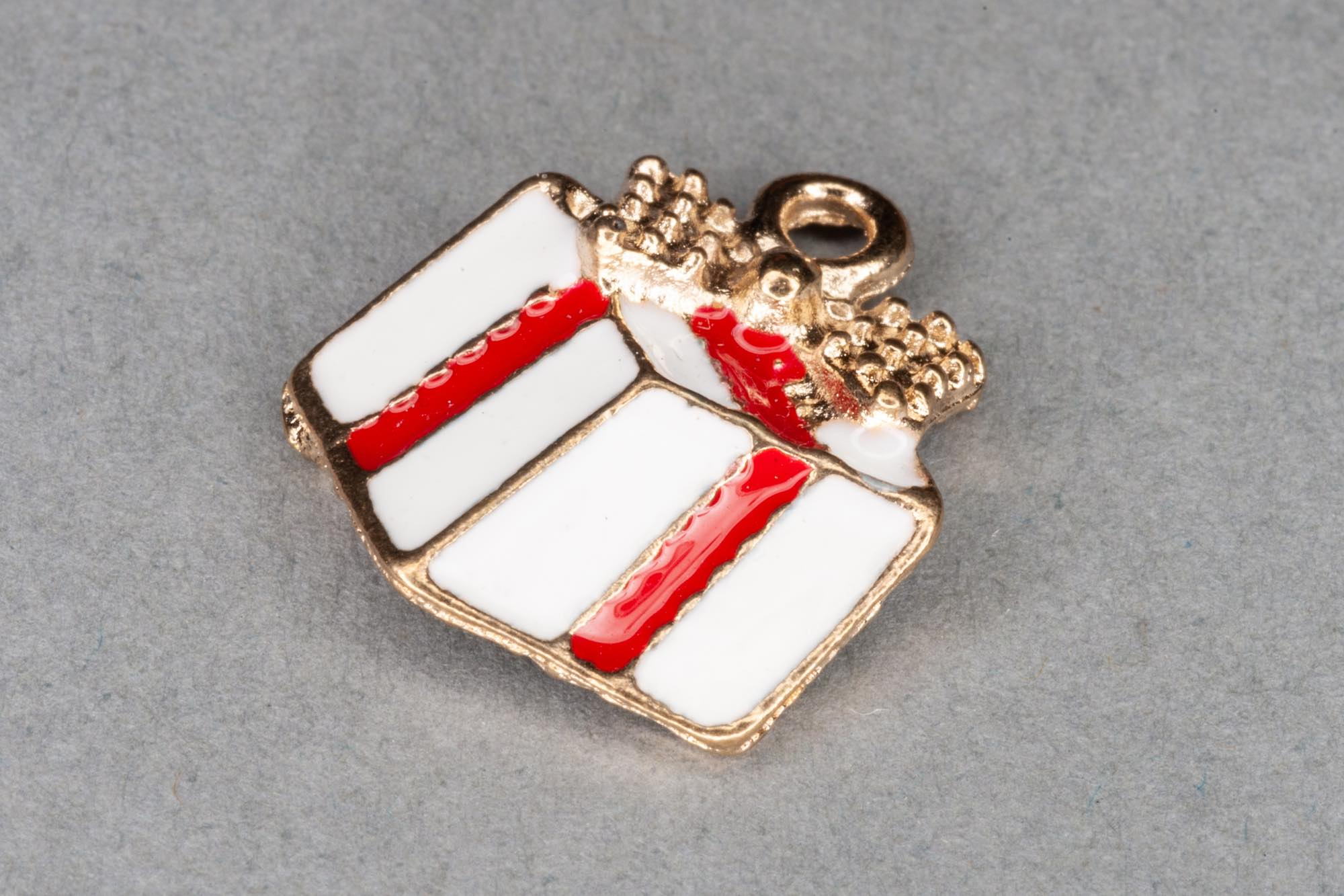 Enamel Gold Boxed Gift Charm 17x16mm