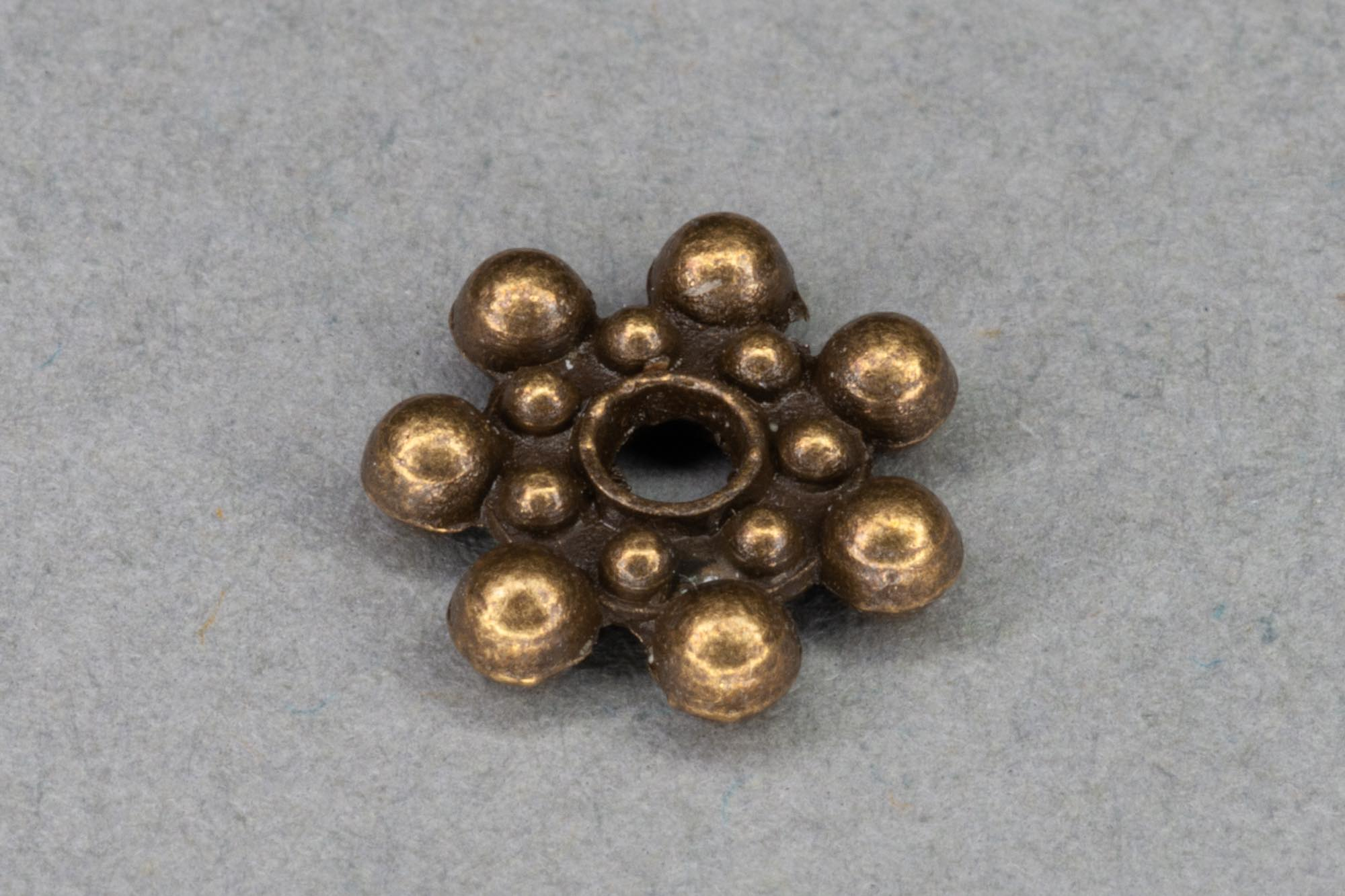 Antique Brass Colour Flat Round Spacer Bead 8x2mm, 1mm hole