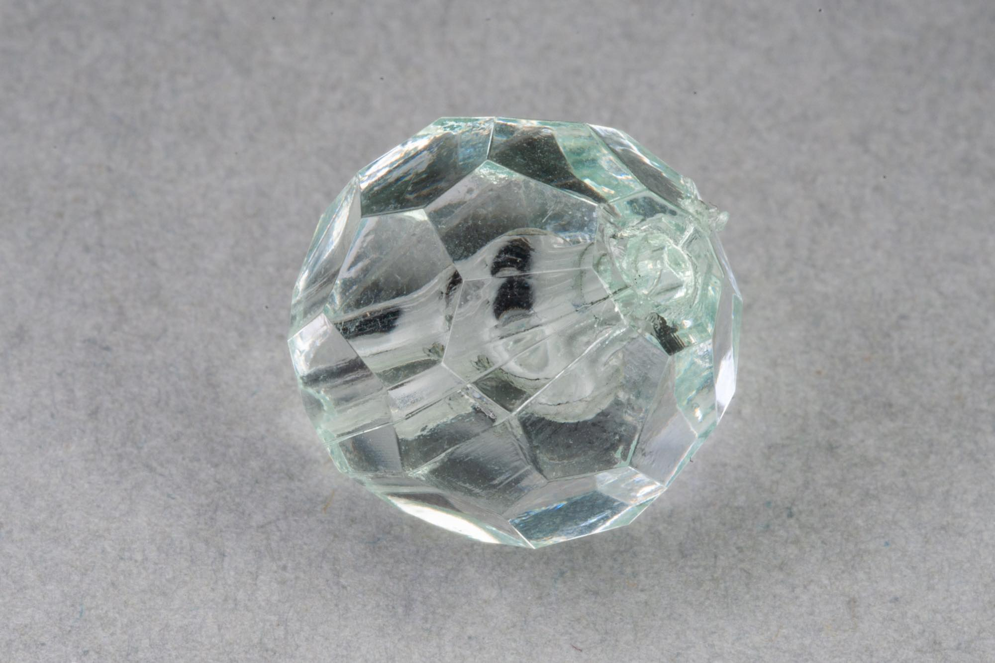 Mint Faceted Transparent Acrylic Bead, 1.5mm hole