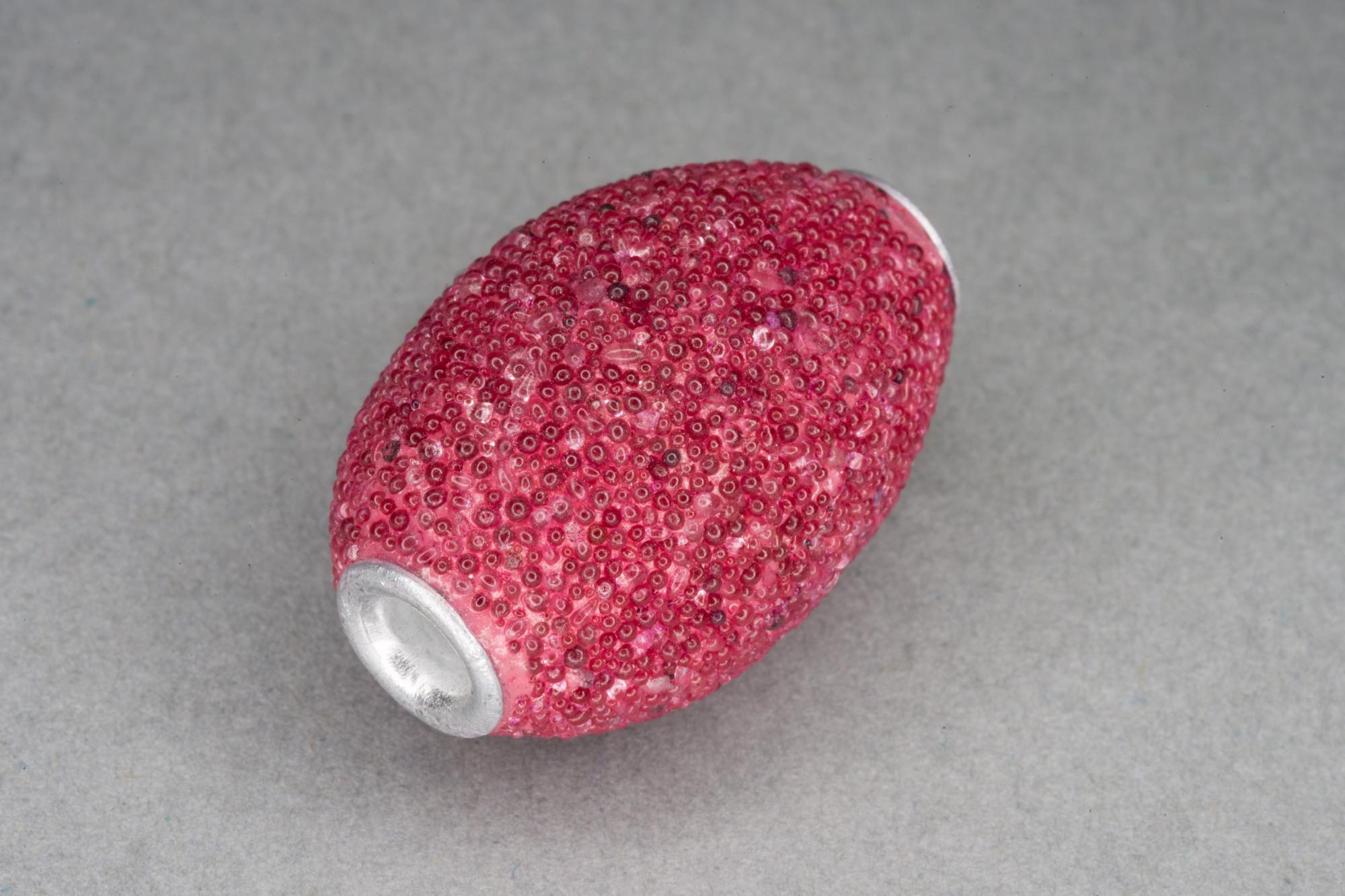 Pink Kashmiri Large Oval Bead 24x17mm, 3.5mm hole