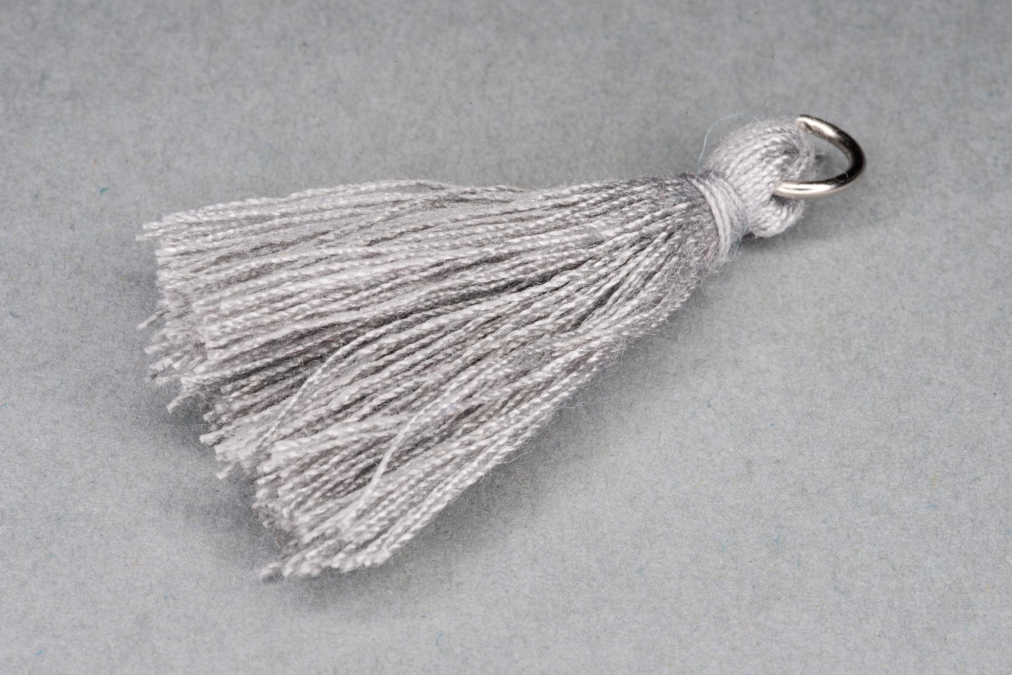 Grey Thread Tassel approx 38mm including hanging loop