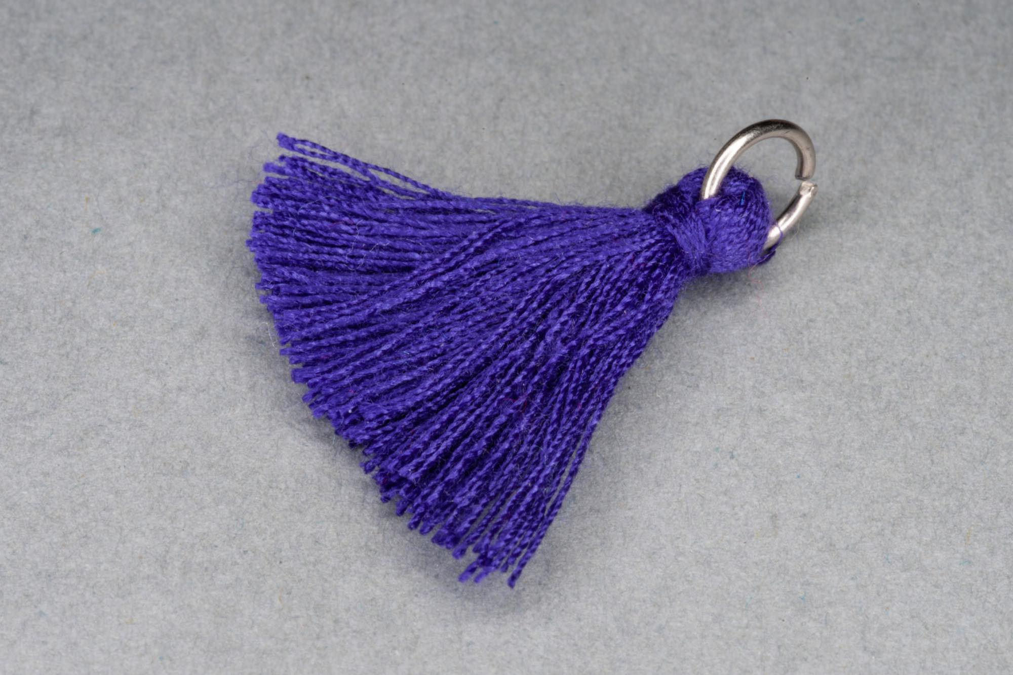 Purple Thread Tassel approx 28mm including hanging loop
