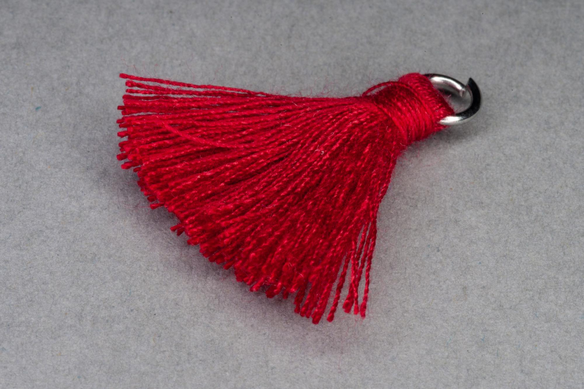 Red Thread Tassel approx 28mm including hanging loop