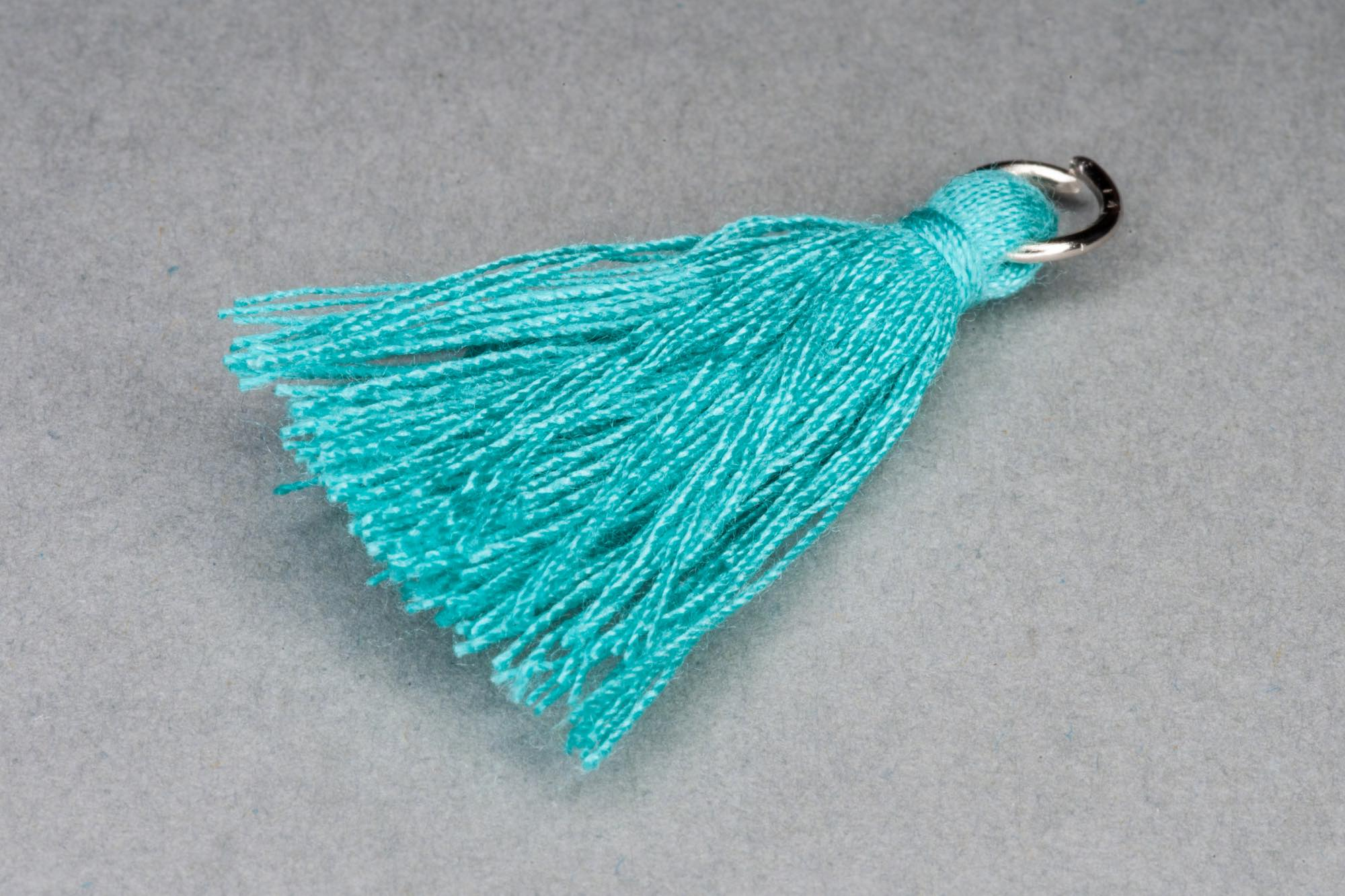 Turquoise Thread Tassel approx 34mm including hanging loop