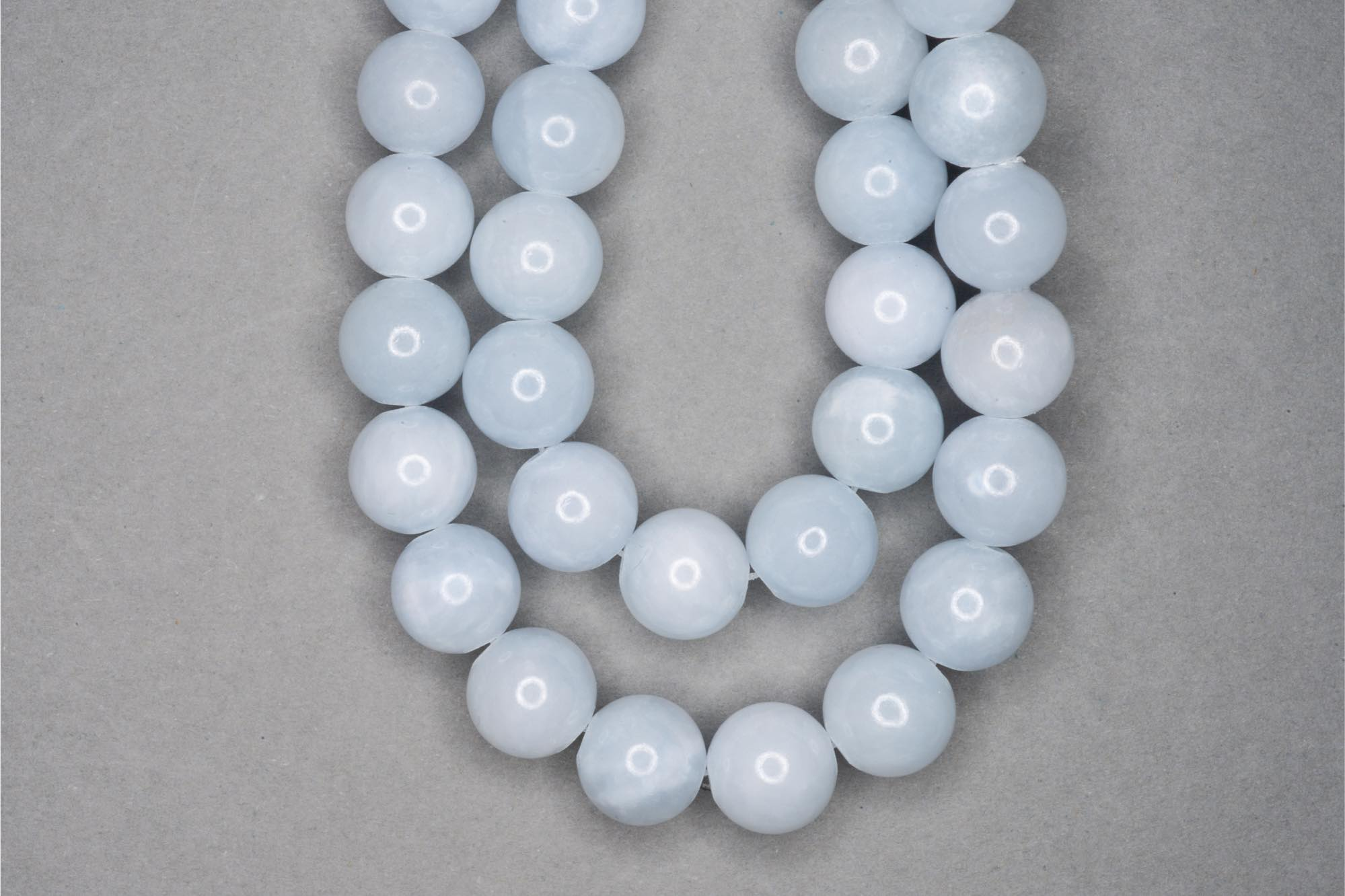 Blue Lace Agate 38cm Strand, 10mm Round