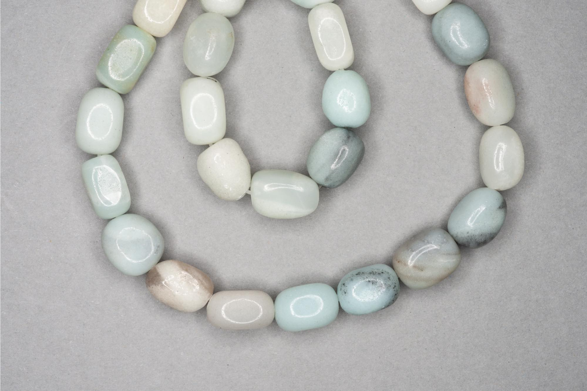 Amazonite 38cm Strand, 11x6x6mm