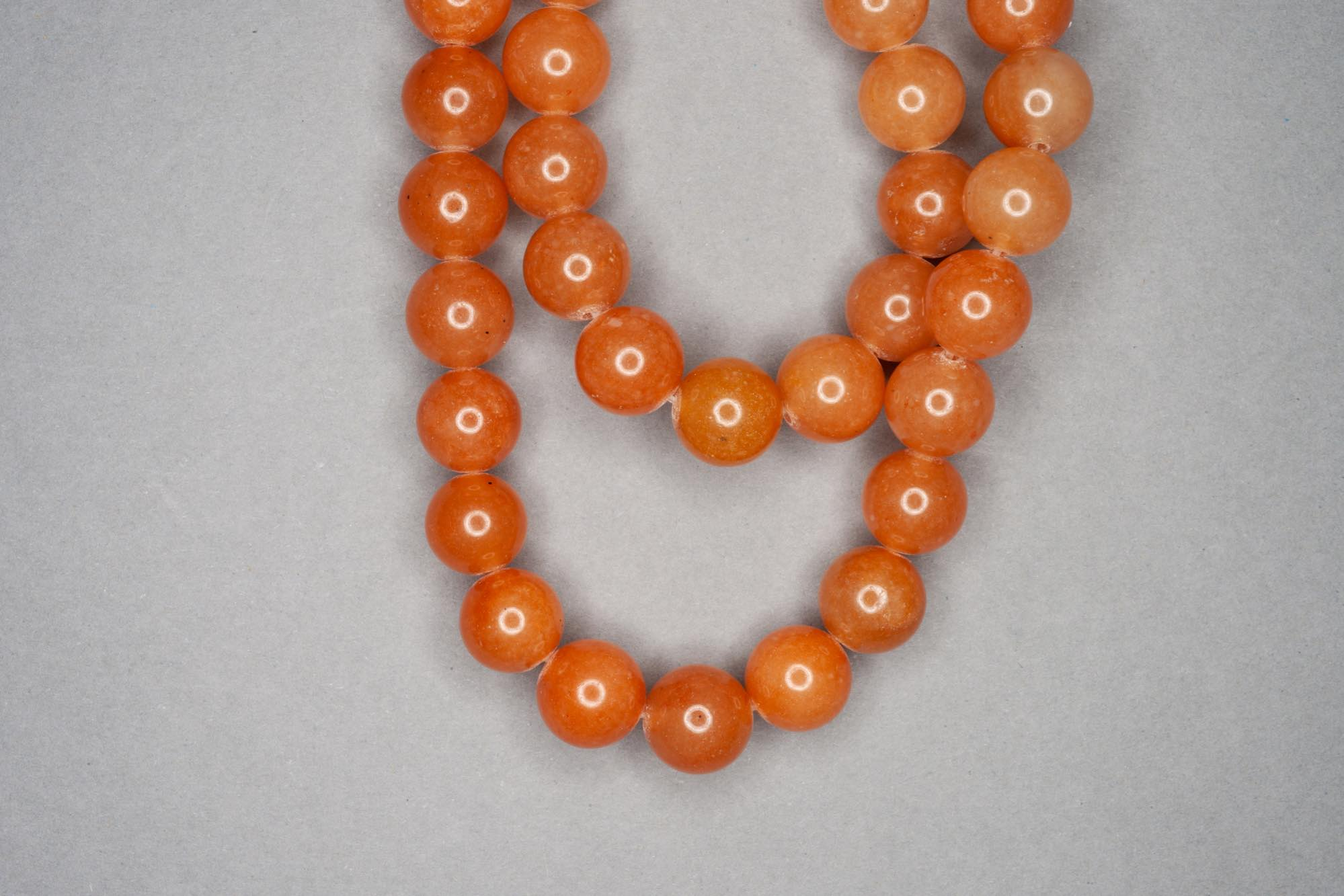 Dull Orange Aventurine 38cm Strand, 10mm Round