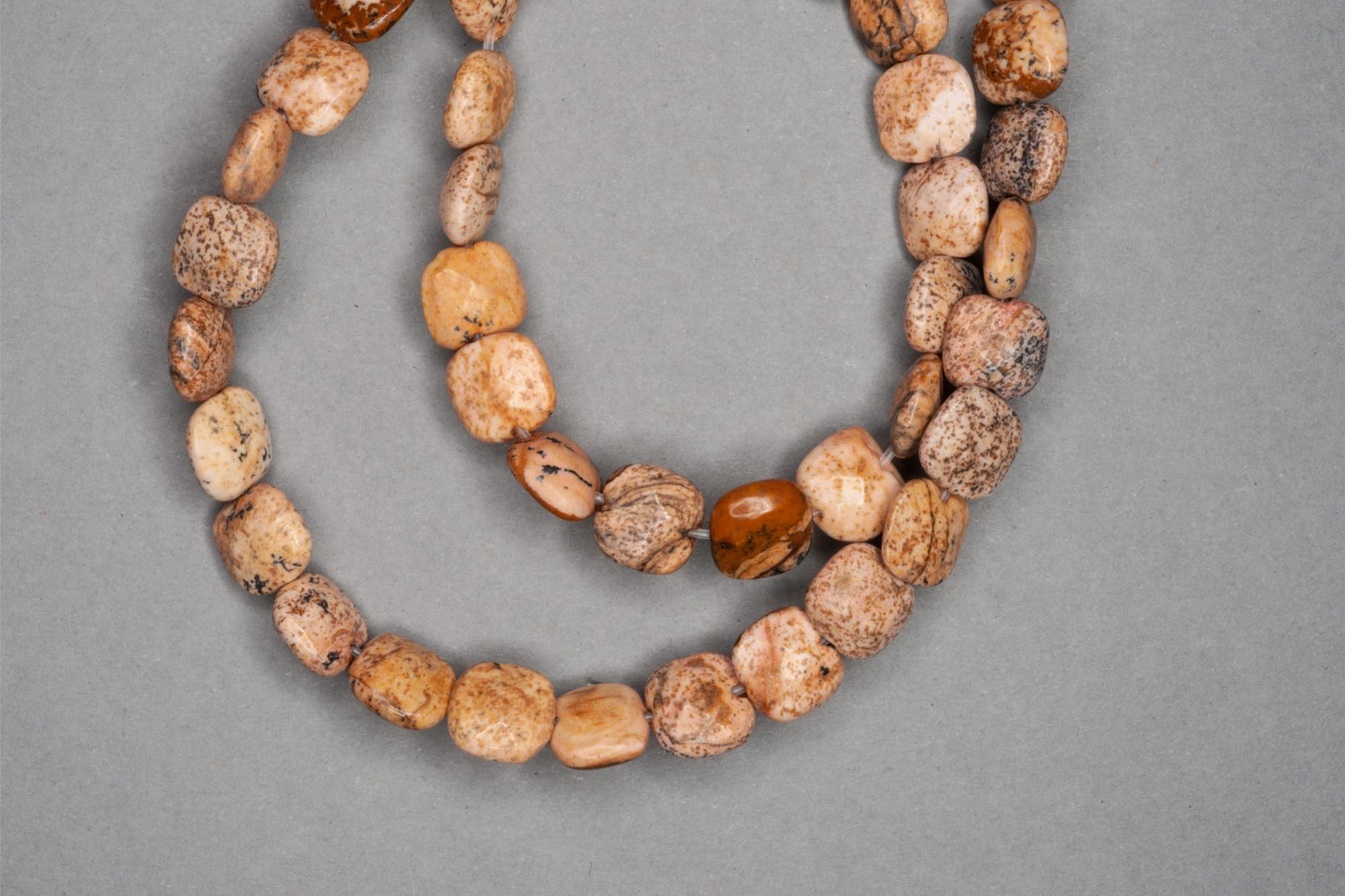 Flat Square Picture Jasper 38cm Strand, 8×3.5mm