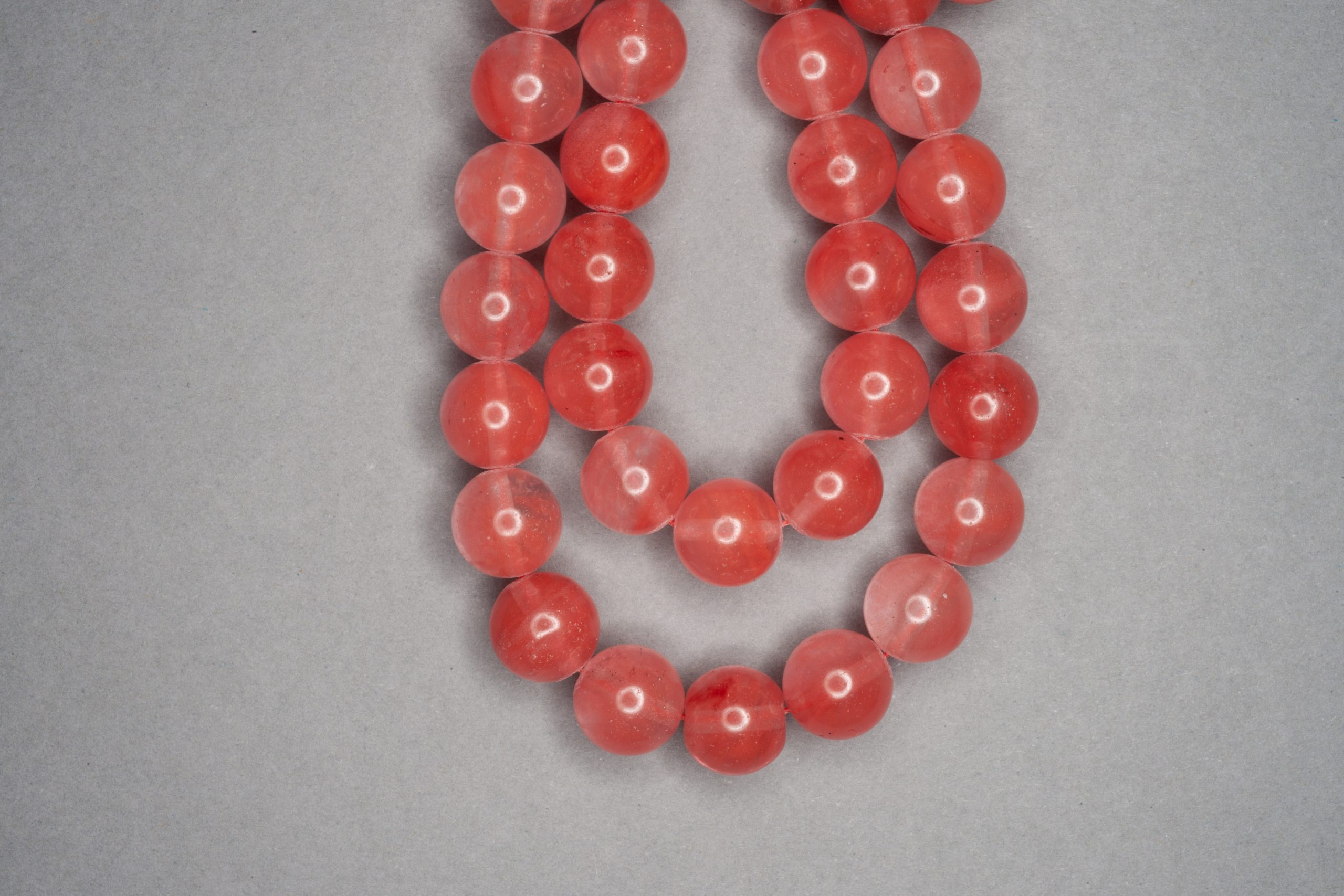 Cherry Quartz 38cm Strand, 10mm Round