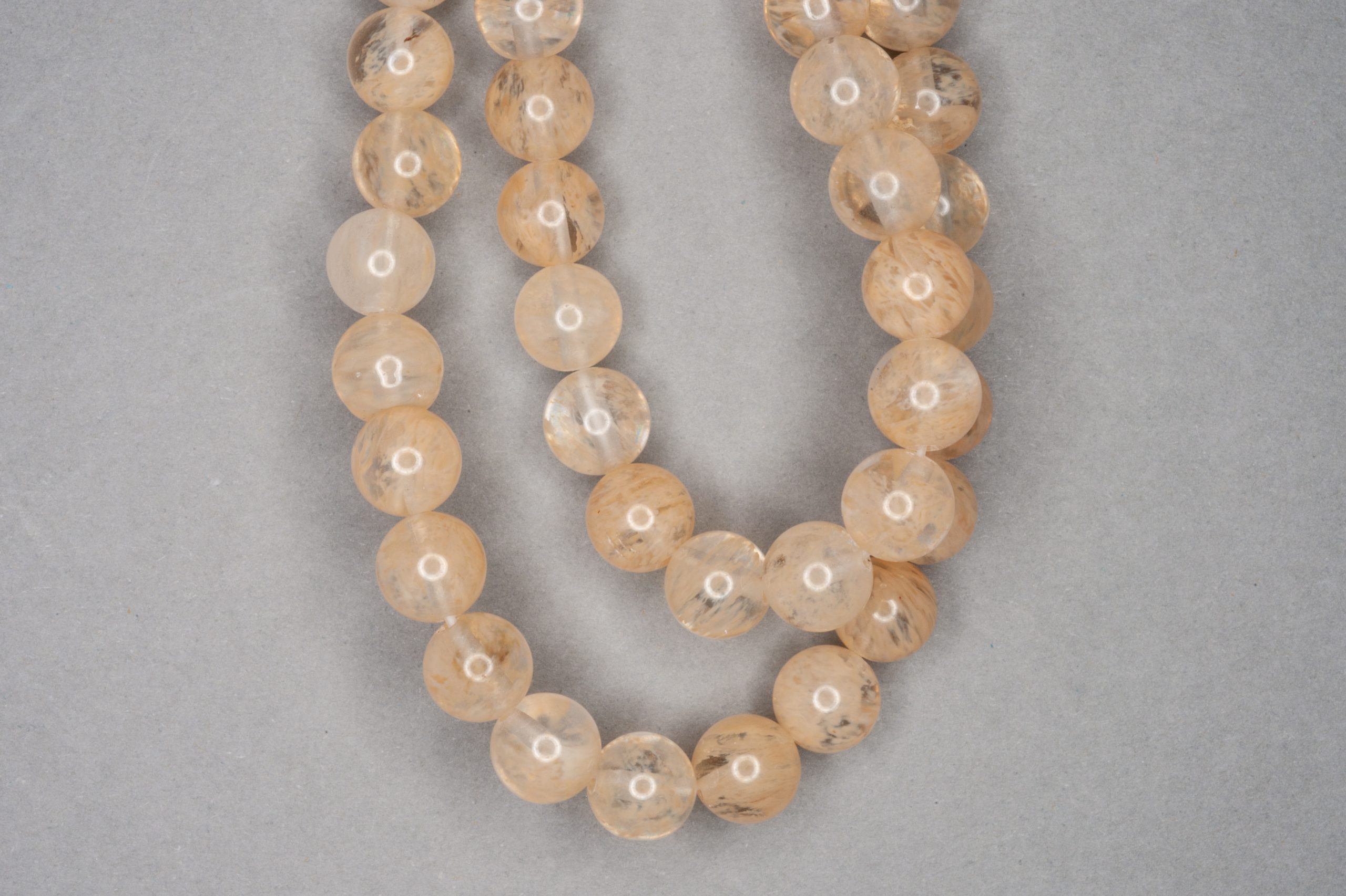 Coffee Quartz 38cm Strand, 8mm Round