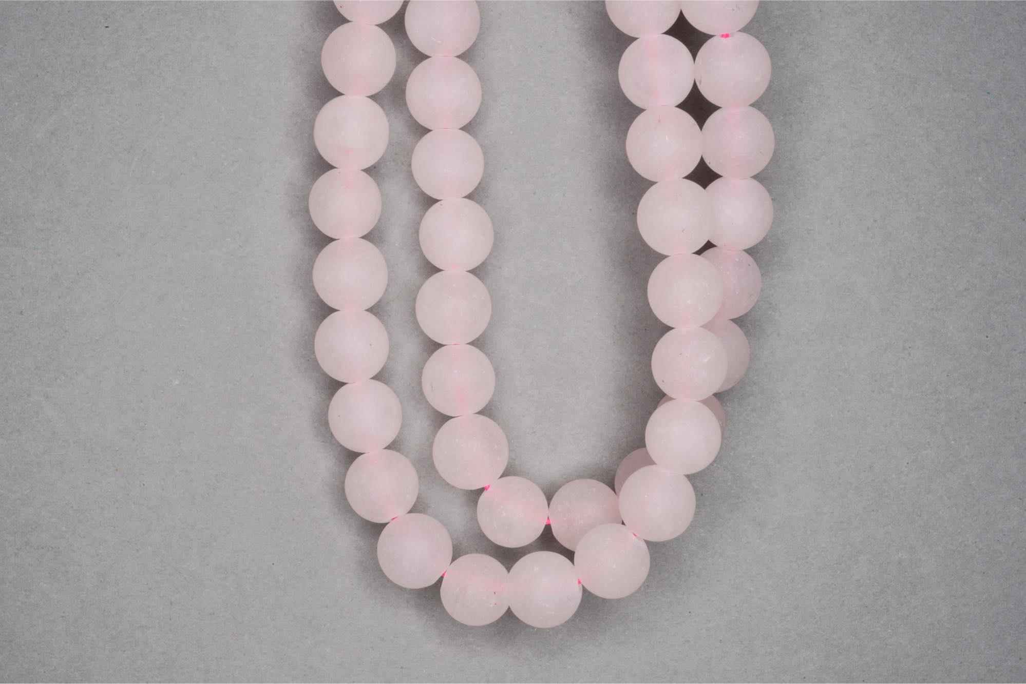 Matte Rose Quartz 38cm Strand, 8mm Round