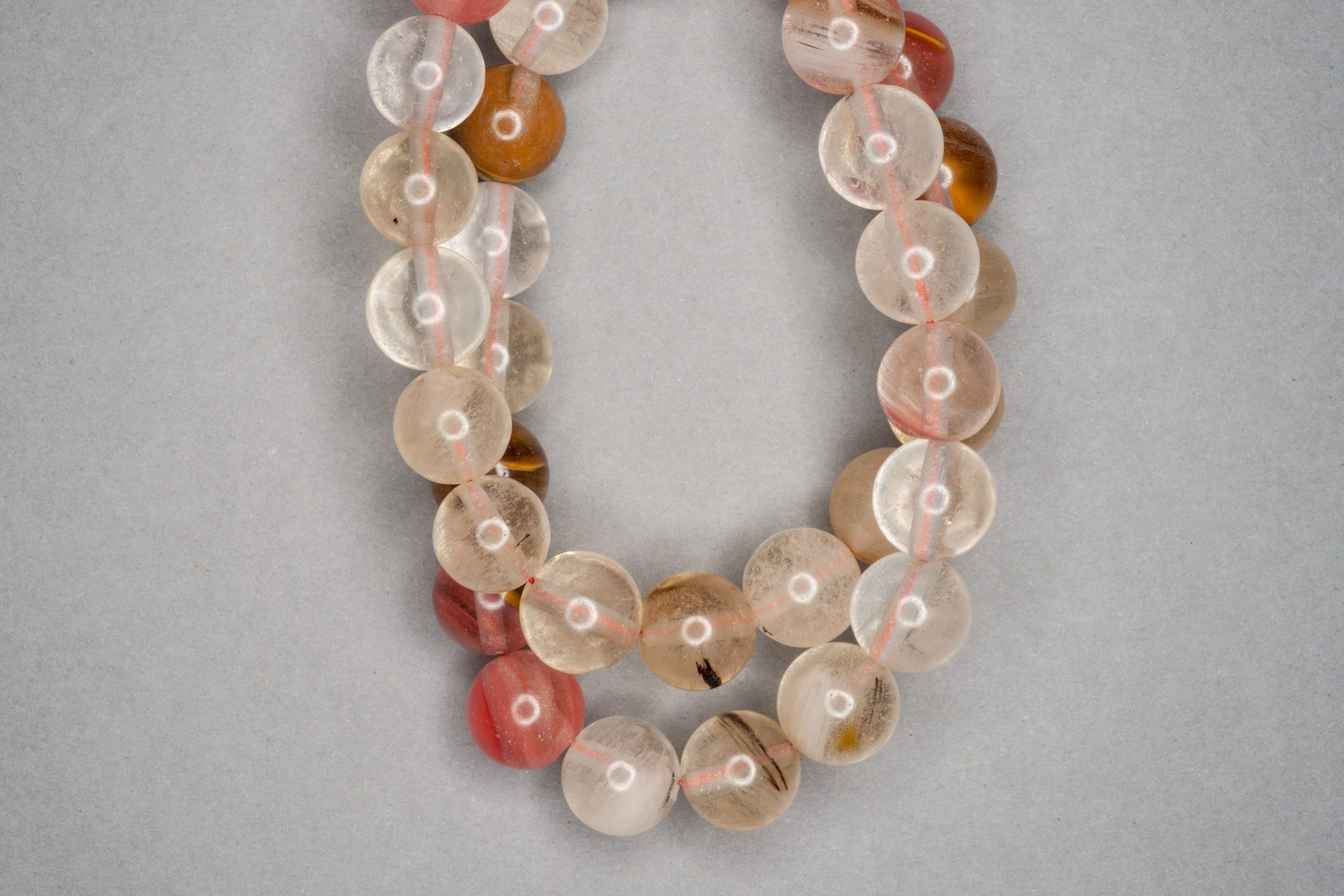 Watermelon Quartz 38cm Strand, 10mm Round