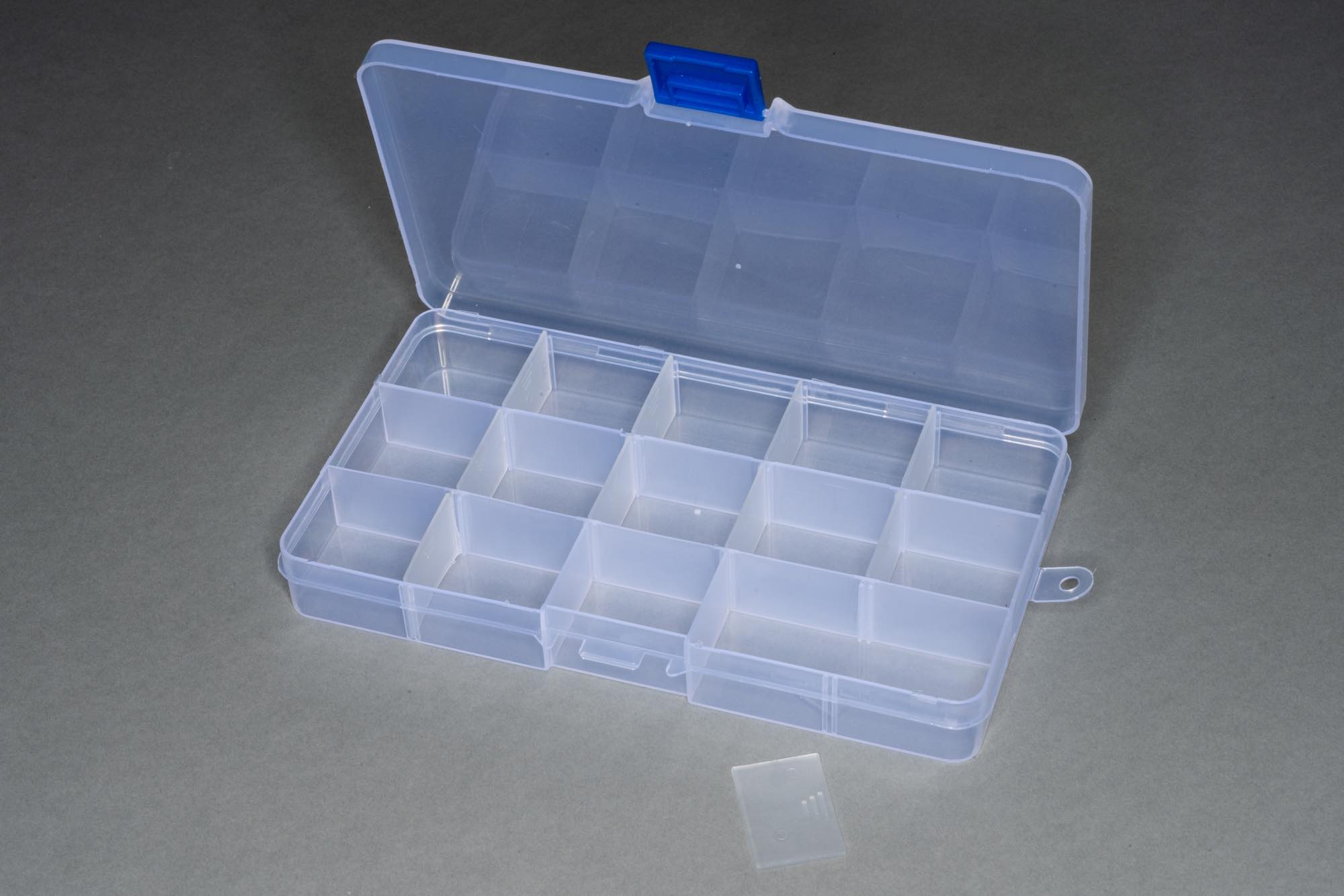 Small Organiser, 15 Sections, Removable Dividers 17x10x2.2cm
