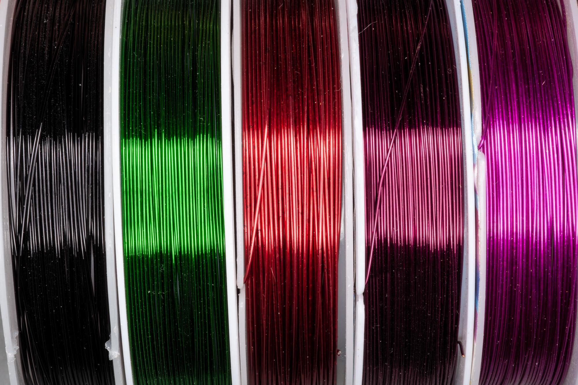 0.4mm Colour Plated Copper Wire, Roll 15 metres