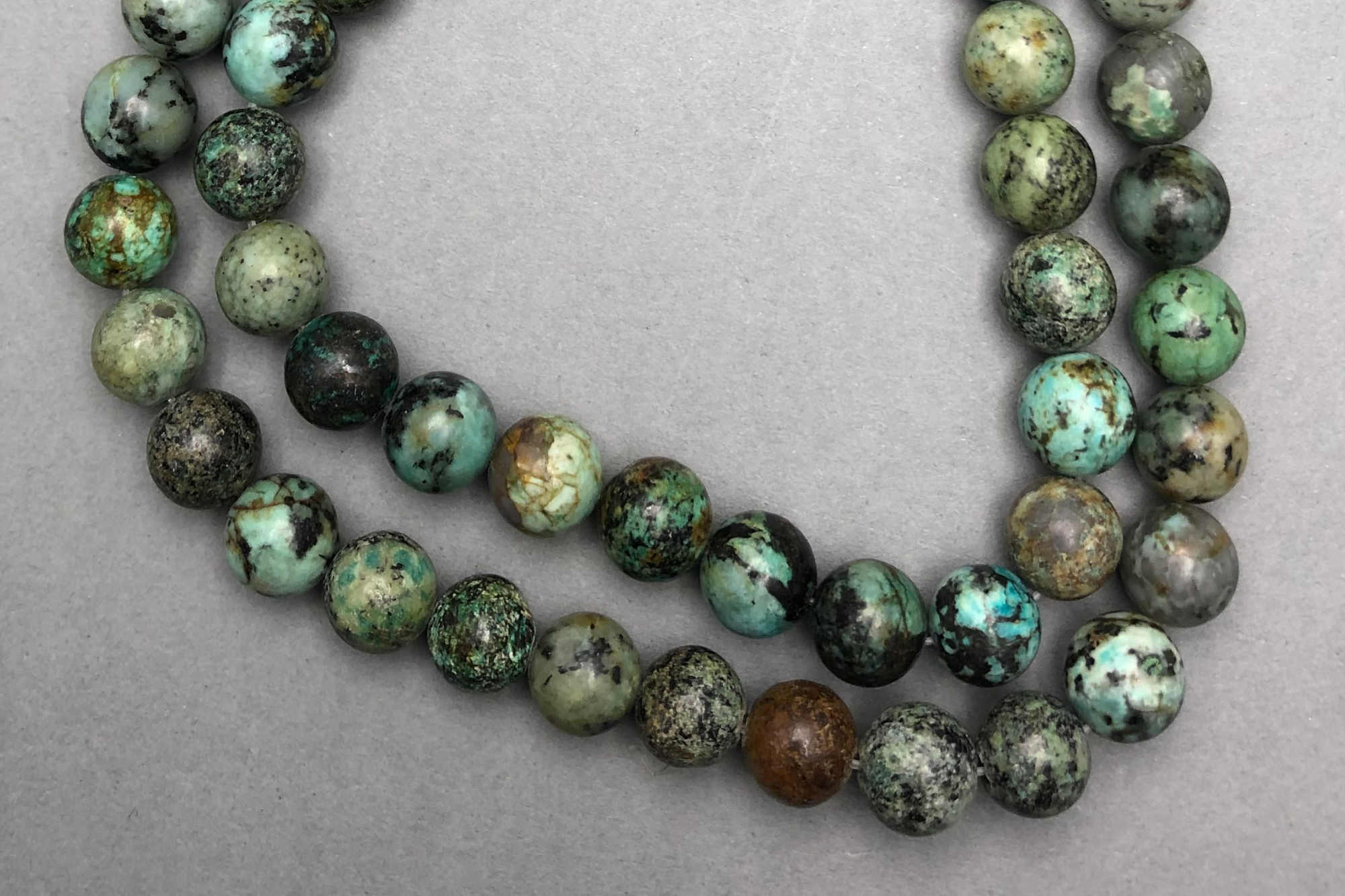 African Turquoise 38cm Strand, 8mm Round