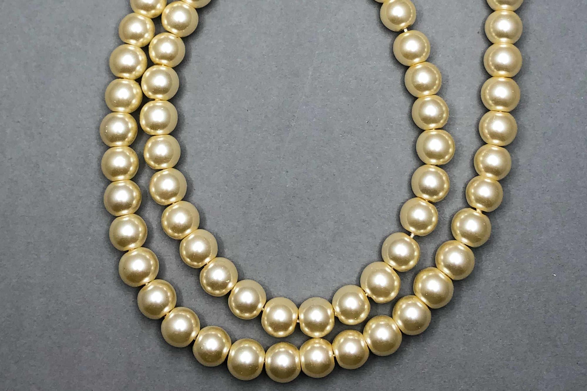 Cream Pearl Glass Beads *NEW*