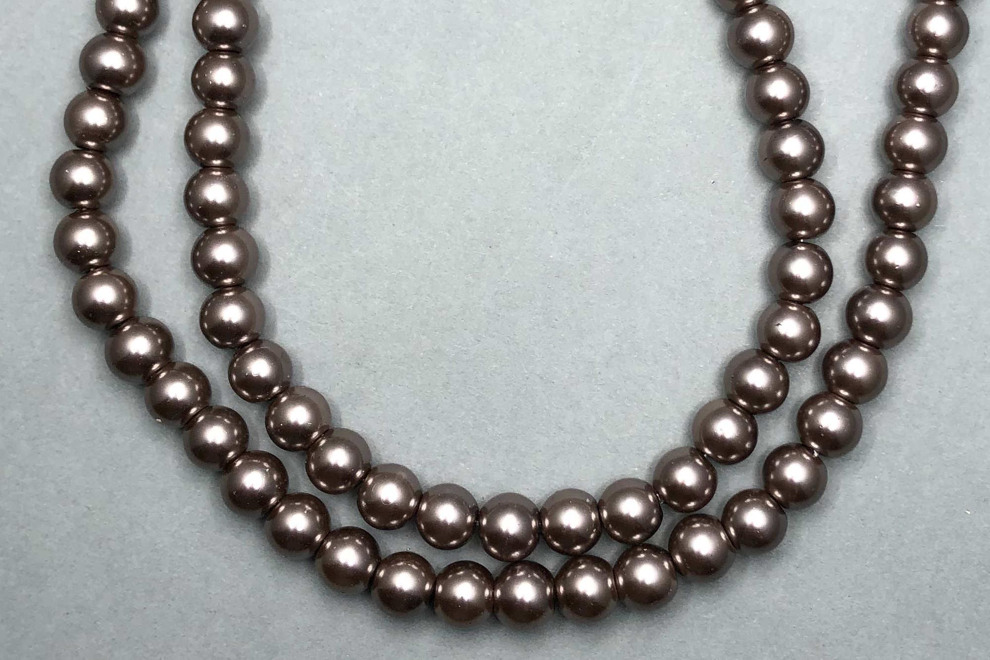 Mocha Pearl Glass Beads *NEW*